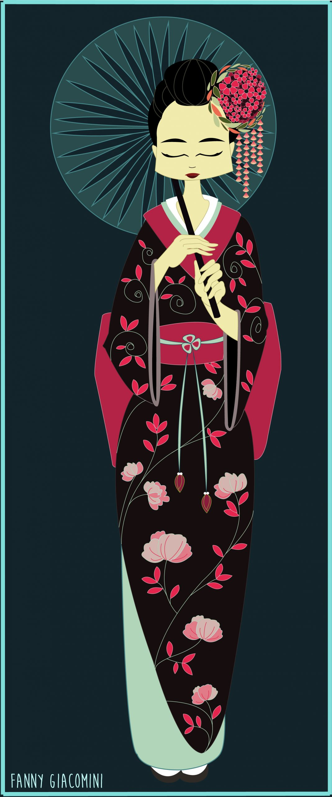 Geisha sur Illustrator
