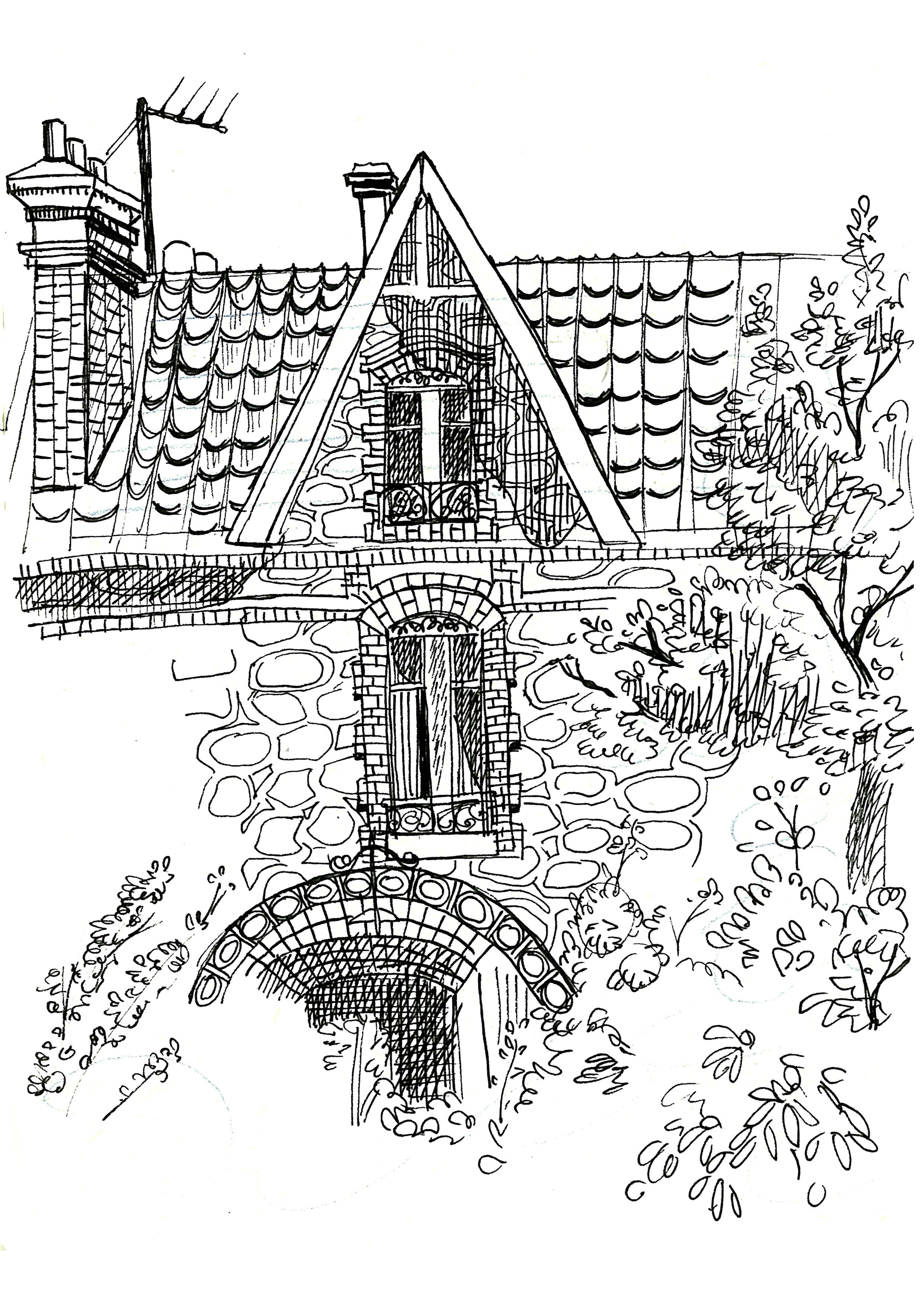 Croquis de natures mortes fanny giacomini dessins for Croquis d une maison