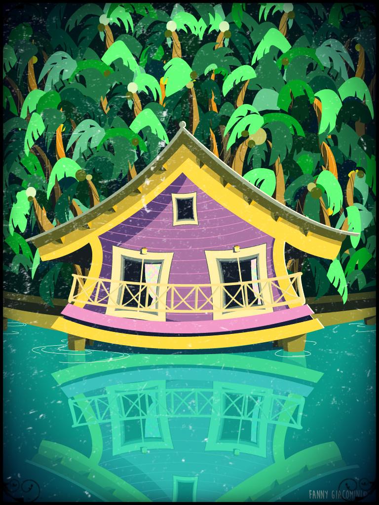 Illustrator – Maison sur le lac