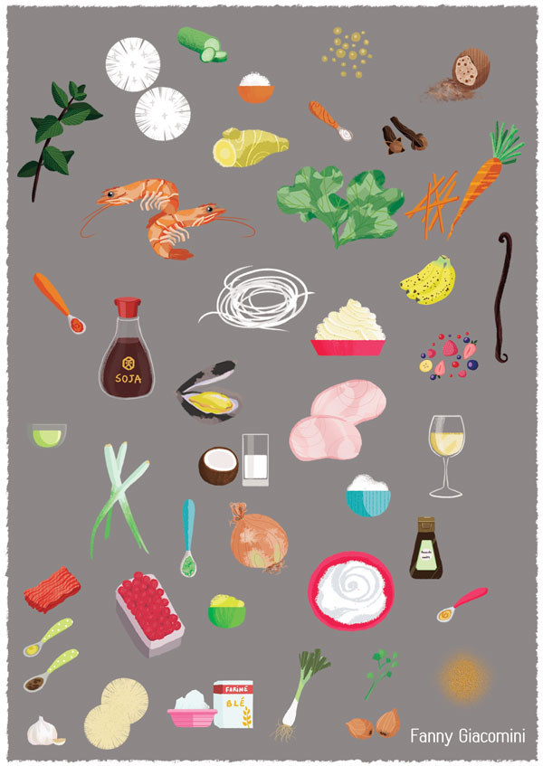 food illustration drawing nourriture dessin
