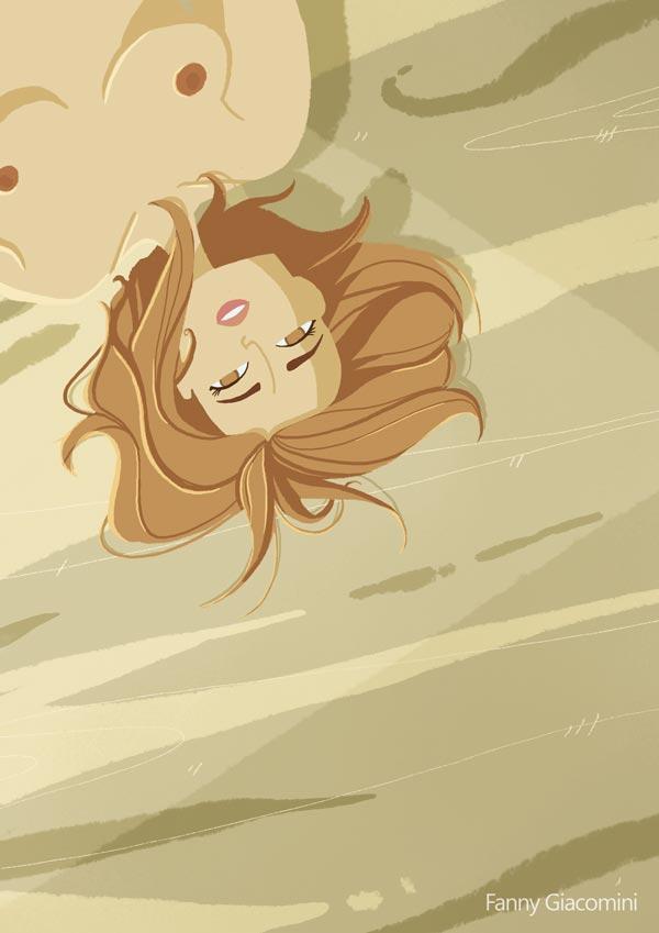 curvy girl femme ronde plage