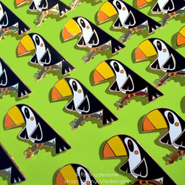 enamel pin cute mignon toucan