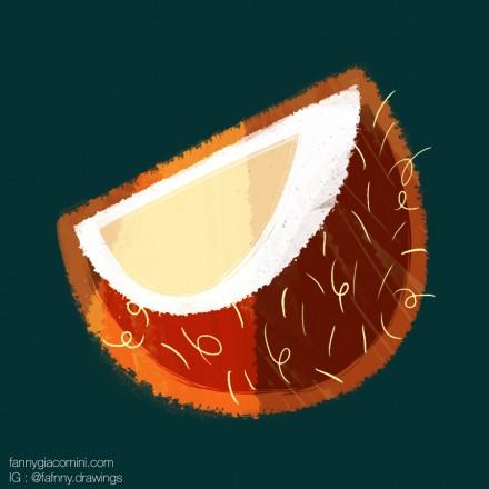 Motif fruits exotiques #2