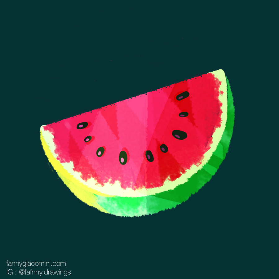 fruit exotique illustration dessin lille freelance
