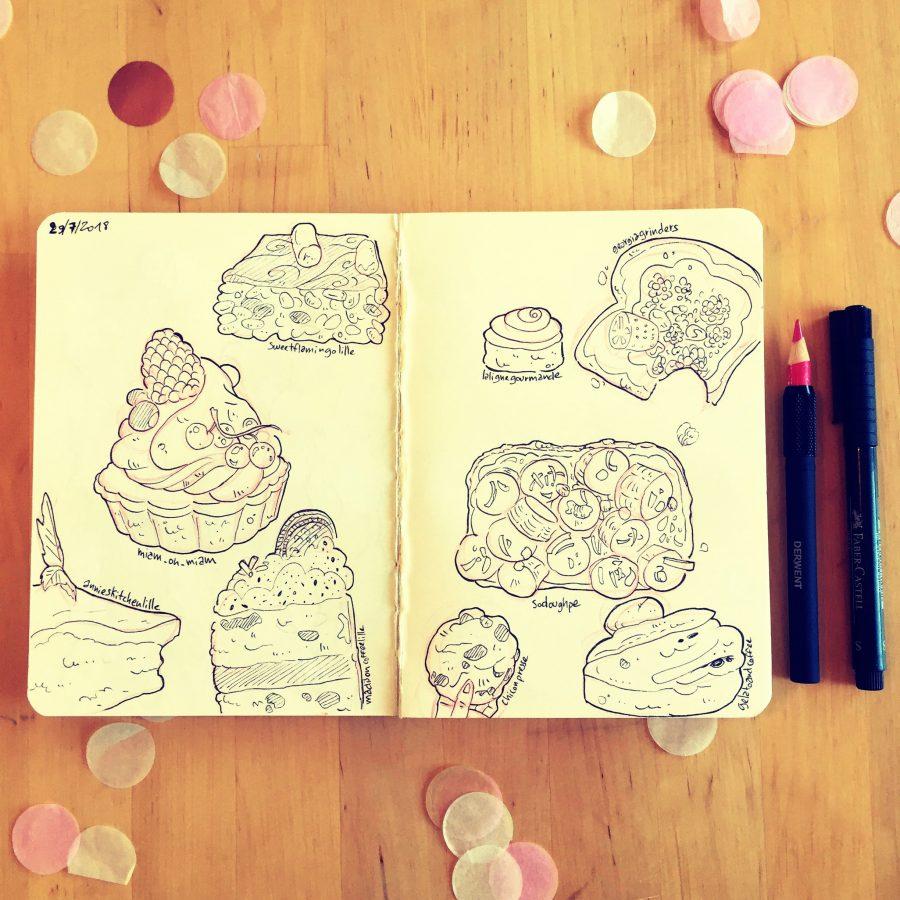 food illustration sketch croquis dessin