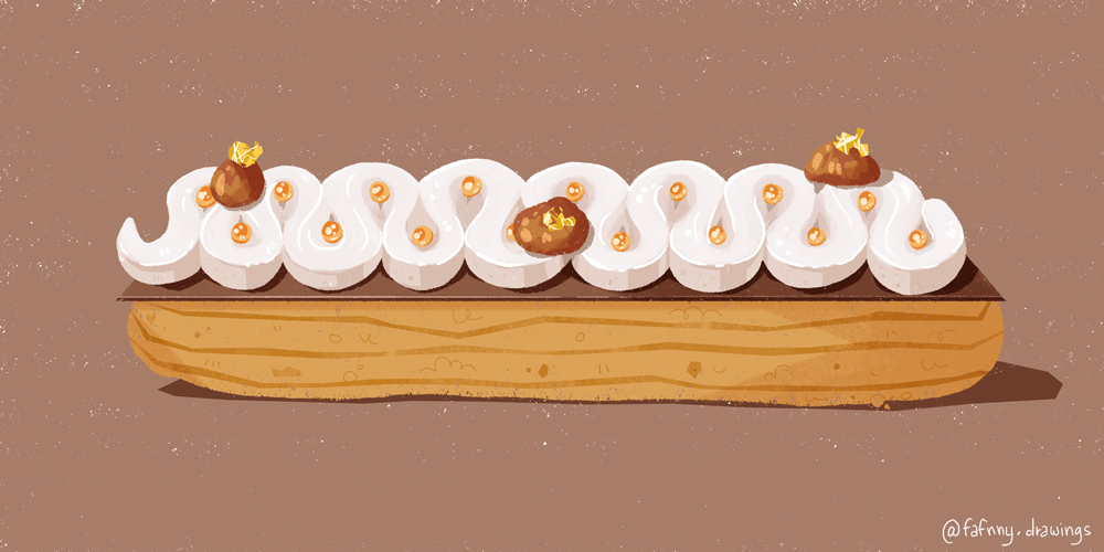 eclair food illustration illustrateur freelance dessin
