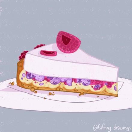 Dessert à la framboise