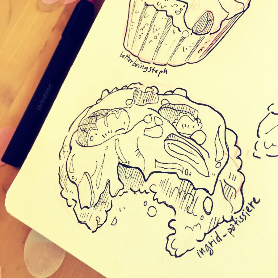 food illustration sketch croquis cookies dessinateur