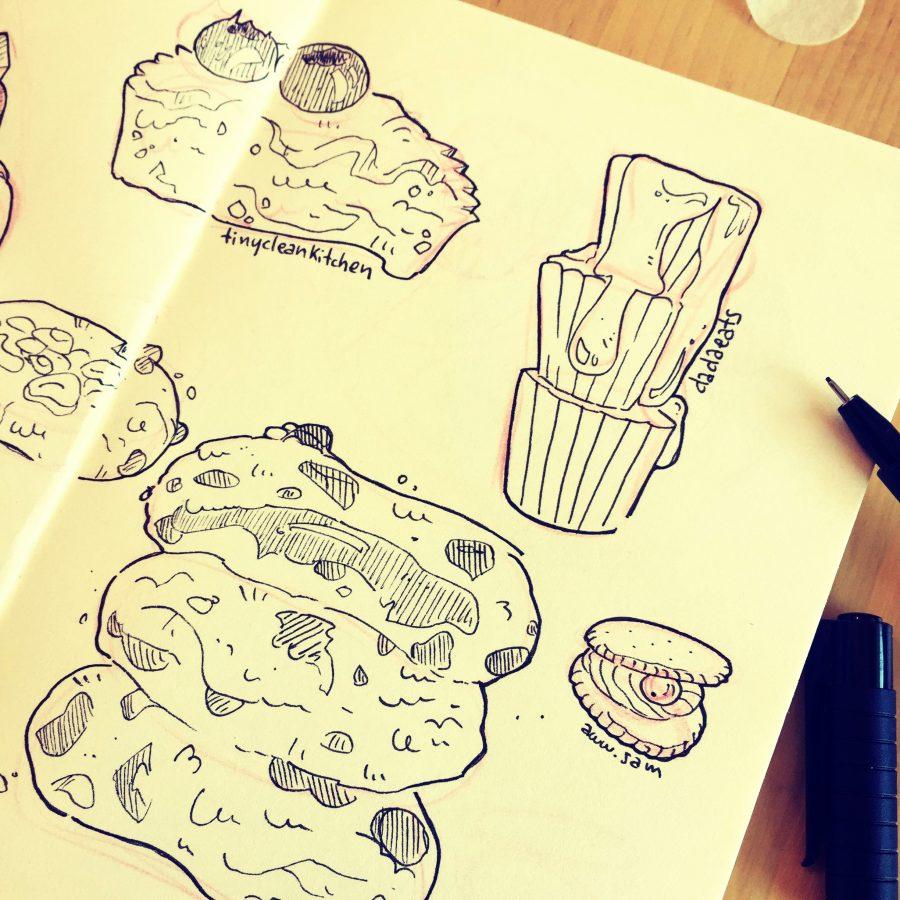 food illustration sketch croquis illustrateur patisseries