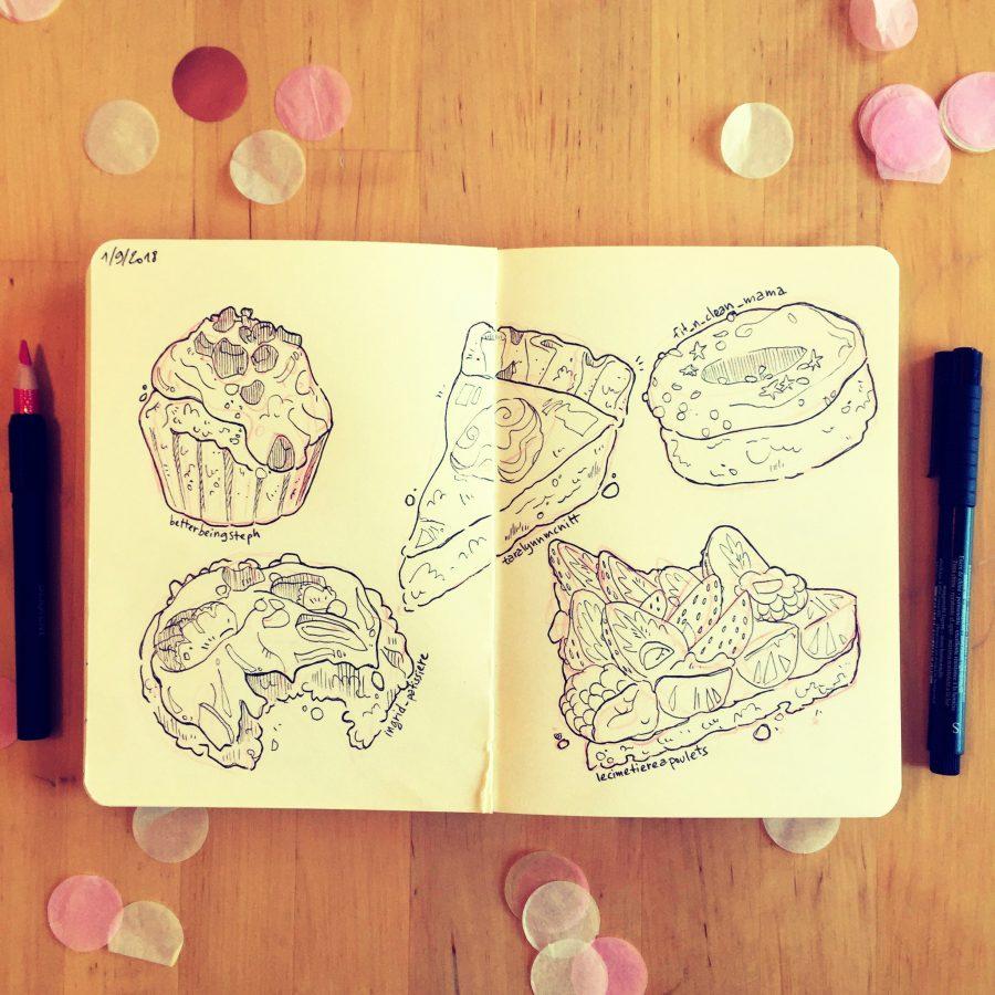 food illustration sketch croquis dessinateur illustration