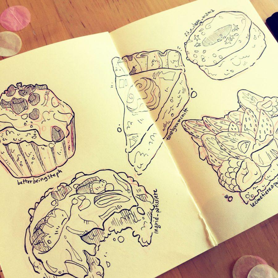 food illustration sketch croquis illustrateur