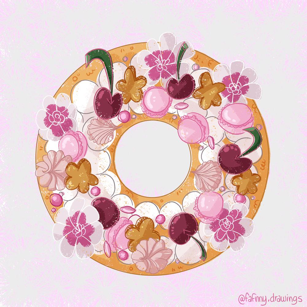 Gâteau tout rose