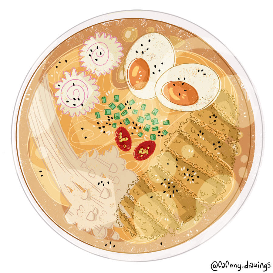 ramen food illustration illustrateur dessin