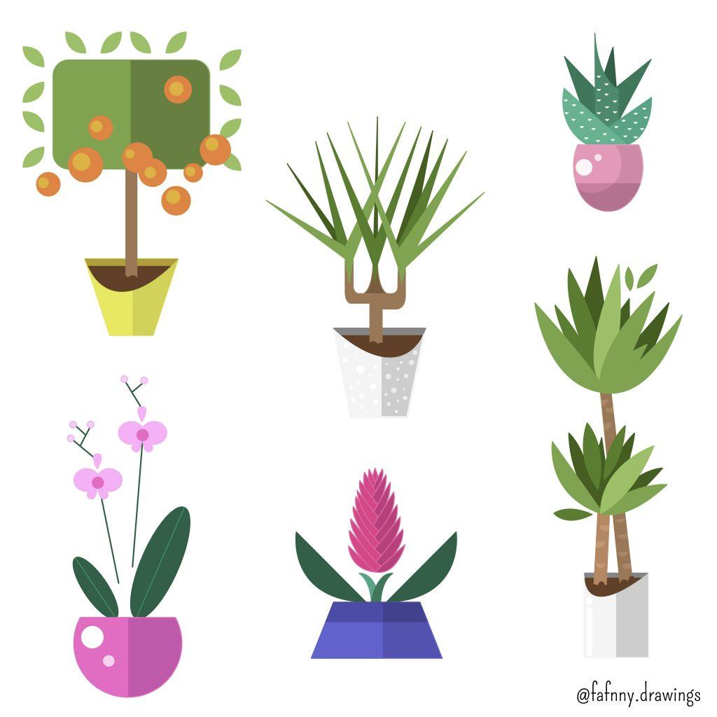 vectoriel vector vecto illustrateur illustratrice lille plantes nature