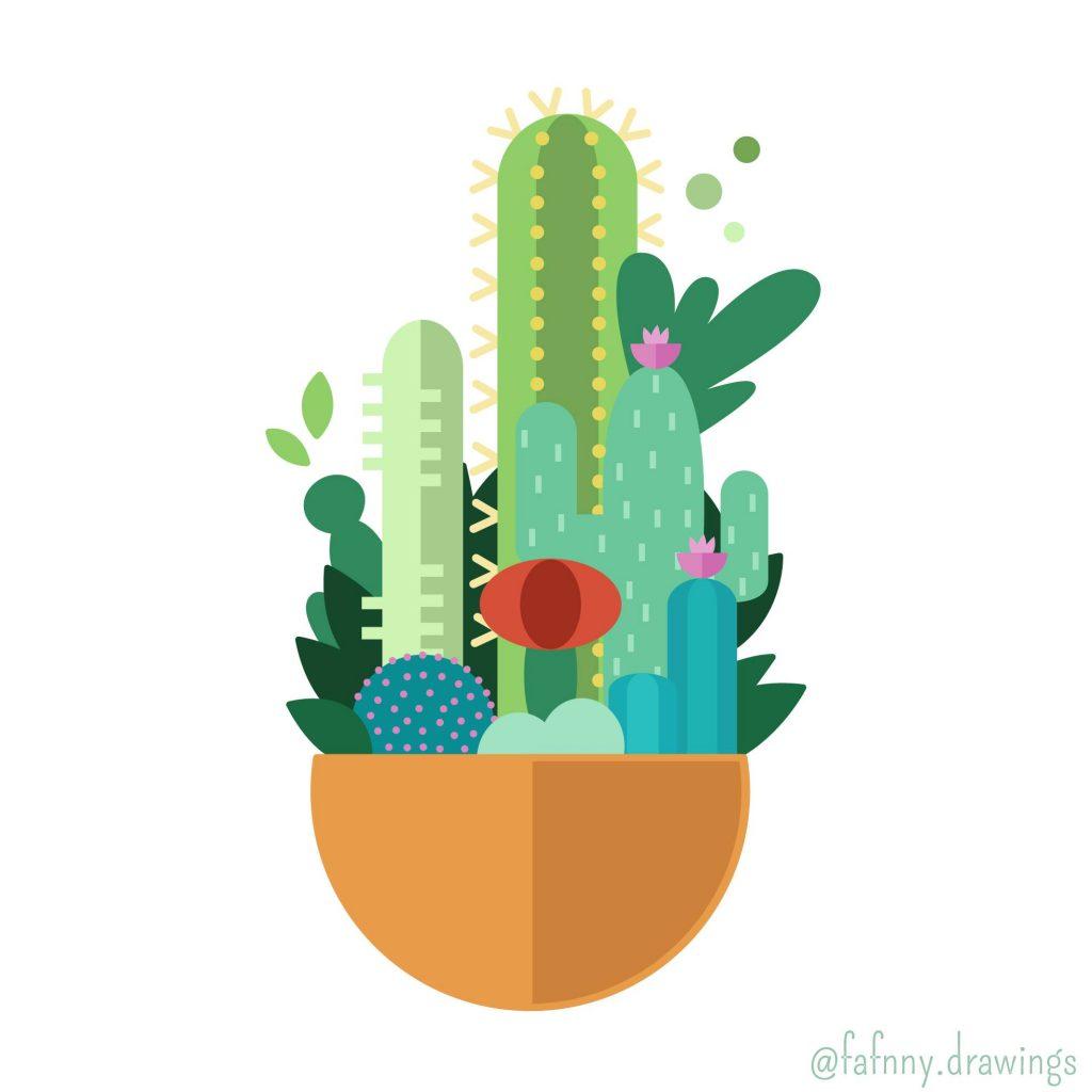 cactus-vectoriel-illustrator-illustrateur-dessin-freelance-lille