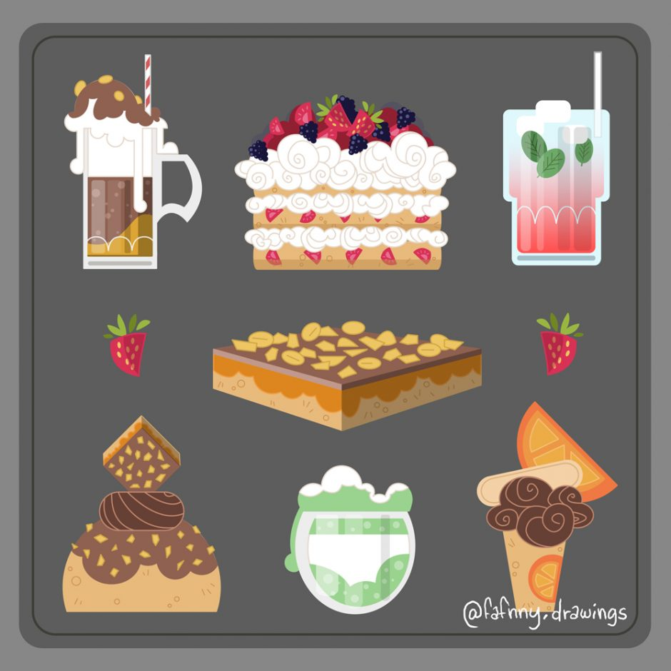 vector vector art illustrateur illustrator l'impertinente vectoriel food illustration