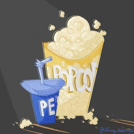 Illustration Pop-Corn et Soda – Props