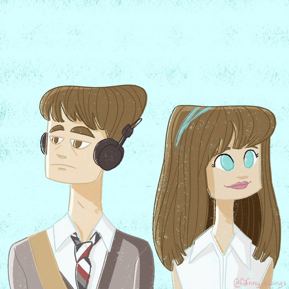 illustration illustrateur dessin dessinateur lille freelance photoshop 500 days of summer film movie