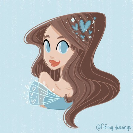 Femme en bleu – Draw this in Your Style Challenge
