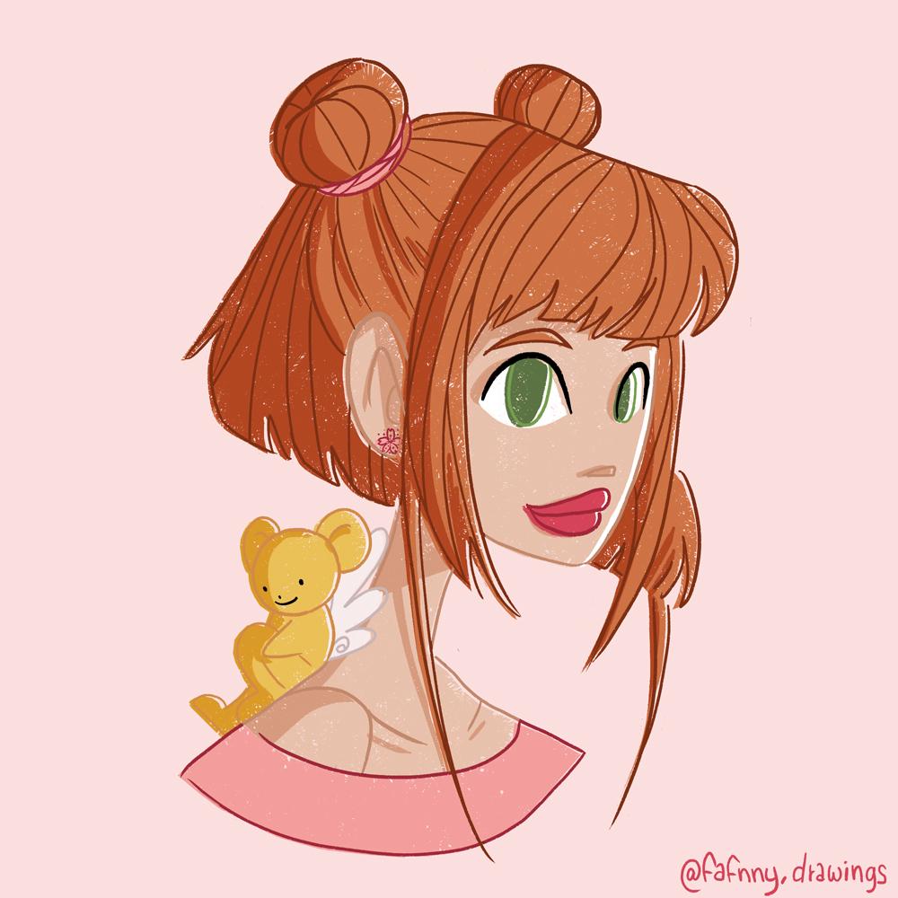 Portrait – Sakura Chasseuse de Cartes